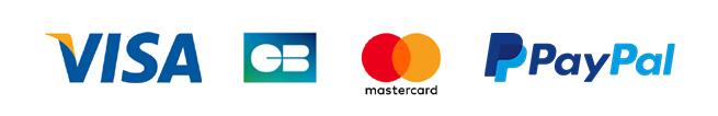 Paiement par Visa, Mastercard ou PayPal